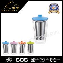 Avec infuseur en acier inoxydable / filtre / filtre Coupe en verre de qualité supérieure