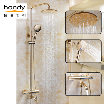 Pancuran pancuran mandian Thermostatic Brass Gold Shower