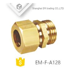 EM-F-A128 Conector rápido de la forma hexagonal de la unión masculina de cobre amarillo de alta calidad
