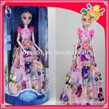 11-Zoll-Mode Schönheit Winter Romantik Thema Musik Lichter Puppe Spielzeug für Mädchen