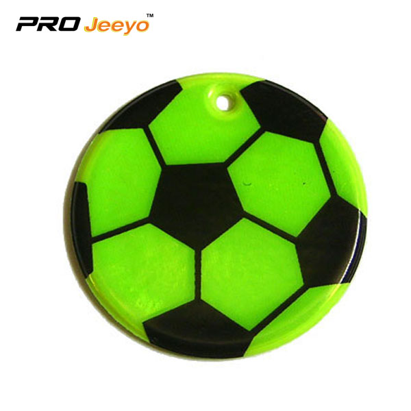 Reflective Pvc Foam Leather Football Green Keychain Rv 212 2