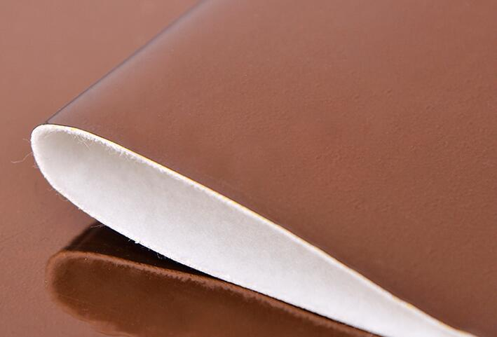 brown-Colorful laser PU leather for bags and garment