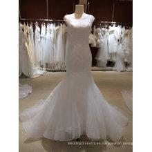 Sirena vestido de novia de corte de trompeta de la boda