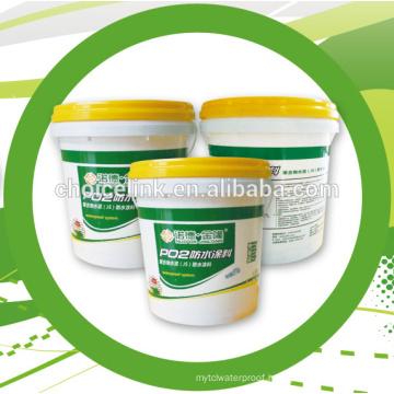 Double component water based polyurethane waterproofing coating