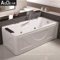 Aokeliya American Standard Bath Tub Whirlpool Massage Hydrotherapy Bathtub with Solid Surface