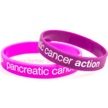 Debossed Color Filled Silicone Wristband