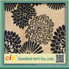 Fashion New Design Polyester Flower Pretty Jacquard Chenille Upholstery Fabric