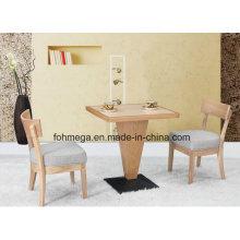 Set de mesa de comedor de madera maciza para 2 comensales
