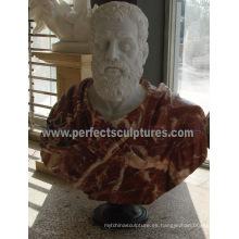 Cabeza estatua Busto Escultura con Piedra de mármol granito arenisca (SY-S236)