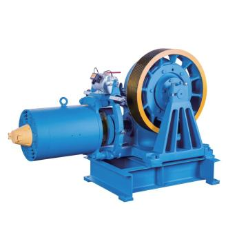 VVVF Drive Geared Elevator Traction Machine, 7000kg Capacidade estática YJ245-B