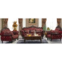 Sofá com estrutura de sofá de madeira e mesa de café (929K)