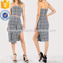 Плед трубка Топ & юбка набор соответствуя Производство Оптовая продажа женской одежды (TA4110SS)