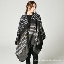 New style oversized women pashmina scarf 50%acrylic50%polyester winter poncho coats