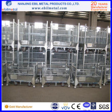 Top Sale Industrial Logistic Medium Foldable Wire Container/Box for Storage