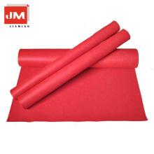 Eco-friendy feltro capa de tecido de lã tapete vermelho