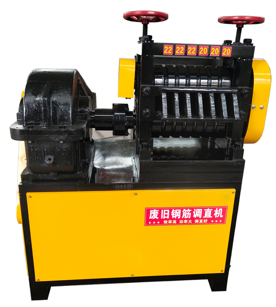 Waste and old steel straightening machine