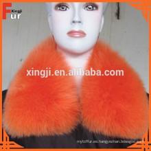 color teñido con forro de cuello de piel de zorro real