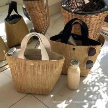 2021 Vintage Ladies Spring Straw Handbags Beach Handbag for Women