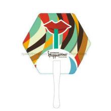 OEM Print Logo PP Advertising Hand Fan for Promotion