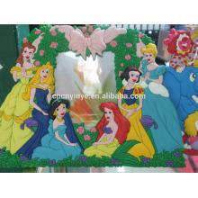 Best-seller frame de produtos do pvc, molduras para fotos amor de borracha, frame da foto de Natal 3D