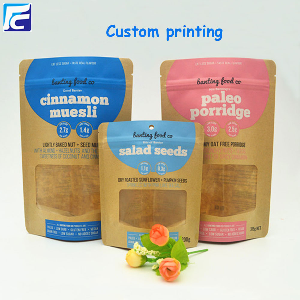 kraft paper with clear window