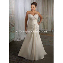 Trumpet Nàng tiên cá thanh lịch Sweet Sweep Train Satin Plus Size Wedding Dress 11223344