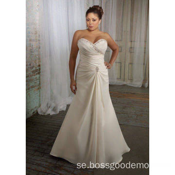 Elegant Trumpet Mermaid Sweetheart Sweep Train Satin Plus Size Wedding Dress 11223344