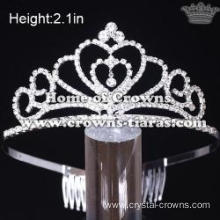 Hot Selling Crystal Heart Shaped Pageant Tiaras