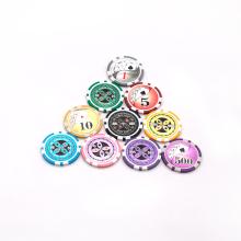 Hologramm-Aufkleber Casino ABS Metal Slug Poker Chips