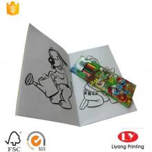 Libro de colorear personalizado para niños con pespuntes