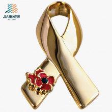 Pin feito sob encomenda da lapela do metal do emblema do ouro da fonte de Wenzhou para a promoção