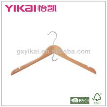 Деревянная вешалка для одежды с U-образными вырезами и крючком для экономии места