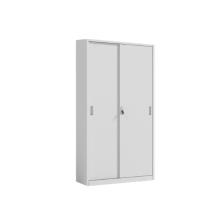 White Tall Metal Sliding Door File Cabinet