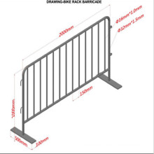 Hot Dipped Galvanized Steel Decorative Safety Control Pedestrian Barriers