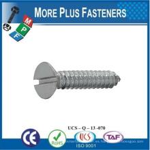 Fabricado en Taiwán ISO 1482c BS 4174 Tornillos con cabeza ranurada