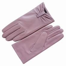 Lady Fashion Sheepskin Leather Driving Dress Gloves (YKY5071)
