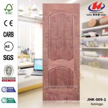 JHK009-1 Projet de meuble de garage extérieur MDF Veneer Natural Bubingga Door Sheet Factory