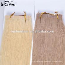 Extensiones de cabello sin costuras de trama de piel suave de calidad superior, desprendiendo pelo de cinta adhesiva libre