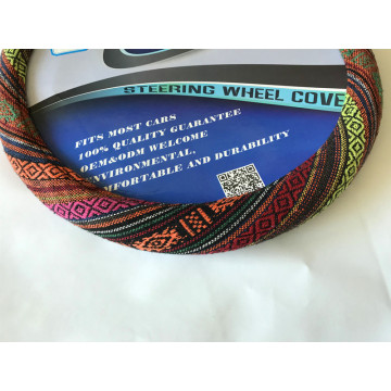 Velvet flower design steering wheel cover