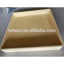 1350 C cuadrado rectangular color amarillo mullita cerámica crisol cerámica saggar
