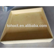 1350 с площади прямоугольного желтого цвета муллита керамический тигель керамический для огнеупорной керамической