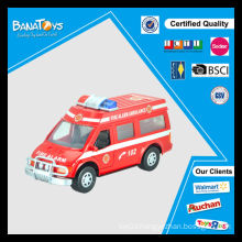 Hot sale china ambulance cars toy for kids plastic friction police toy car