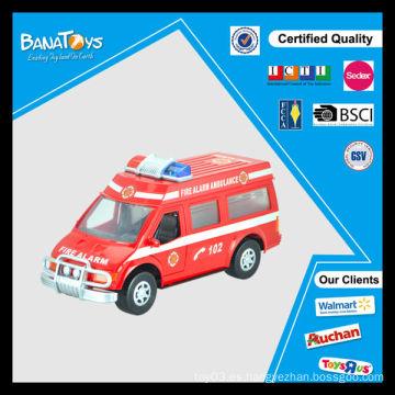 Los coches calientes de la ambulancia de China de la venta juegan para el coche plástico del juguete de la policía de la fricción de los cabritos