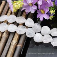 Белое сердце камень оптовая продажа бусины Strand