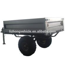 China wholesale log trailer with crane,wood log trailer,single axle trailer