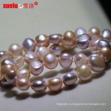 8-9мм многоцветный барокко нерегулярные формы пресной воды жемчужное ожерелье (E130137)