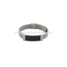 Нержавеющая сталь 10 мм стали mush band унисекс часы с голубой углеродного волокна по продажам браслет новой моды