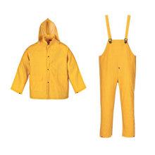 Yj-6022 Hommes imperméable à l'eau en PVC costume pluie imperméable jaune imperméable