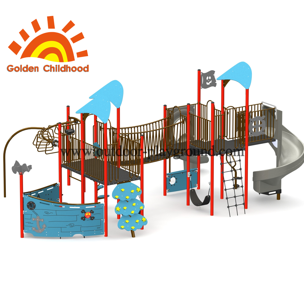 Priate Ship Outdoor Playground For Children