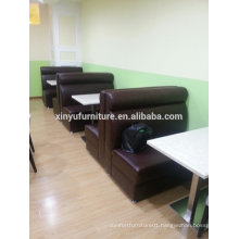 Durable leather booth sofa and dining table XYN109